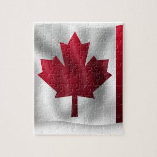 Canada Flag Canadian Country Emblem Leaf Maple Jigsaw Puzzle