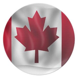 Canada Flag Canadian Country Emblem Leaf Maple Plate