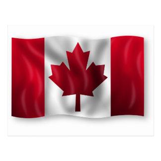 Canada Flag Canadian Country Emblem Leaf Maple Postcard