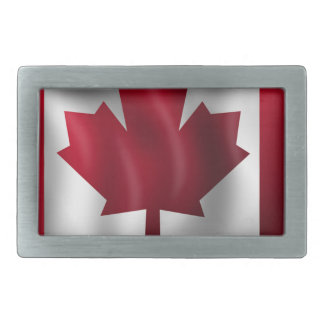 Canada Flag Canadian Country Emblem Leaf Maple Rectangular Belt Buckle