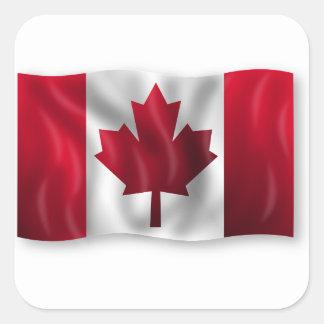Canada Flag Canadian Country Emblem Leaf Maple Square Sticker