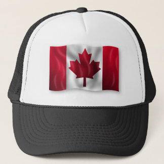 Canada Flag Canadian Country Emblem Leaf Maple Trucker Hat