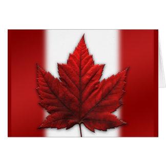 Canada Flag Card Canadian Flag Greeting Card