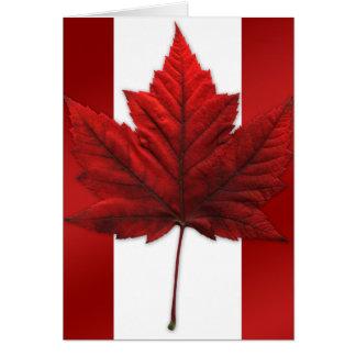 Canada Flag Card Canadian Flag Greeting Card Blank