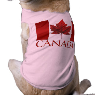 Canada Flag Dog T-shirts Gifts Canada Pet Souvenir Sleeveless Dog Shirt