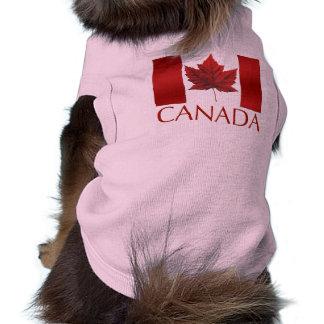 Canada Flag Dog T-shirts Gifts Canada Pet Souvenir Sleeveless Dog Shirt