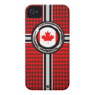 Canada Flag Emboss iPhone 4 Case-Mate Case