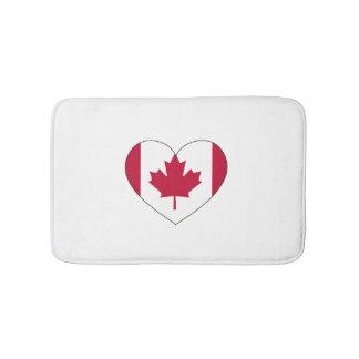 Canada Flag Heart Bath Mats