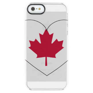Canada Flag Heart Clear iPhone SE/5/5s Case