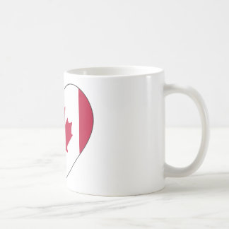Canada Flag Heart Coffee Mug