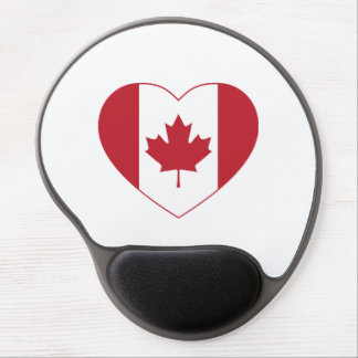 Canada Flag Heart Gel Mouse Pad
