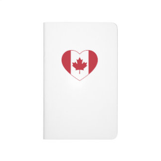 Canada Flag Heart Pocket Journal