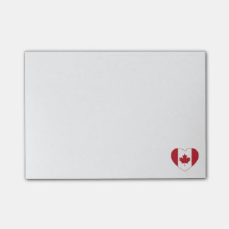 Canada Flag Heart Post-it Notes