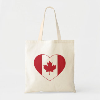 Canada Flag Heart Tote Bag