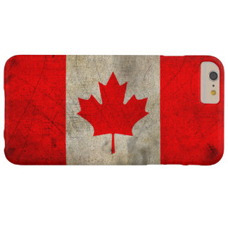 Canada Flag in Grunge Barely There iPhone 6 Plus Case
