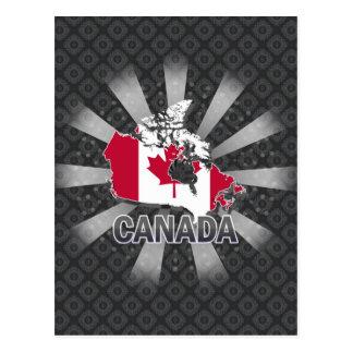 Canada Flag Map 2.0 Postcard