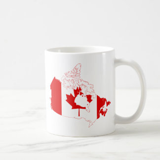 Canada Flag map CA Coffee Mug