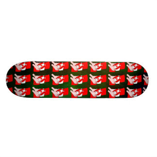 Canada Flag Maple leaf Rugby Ball Skateboard