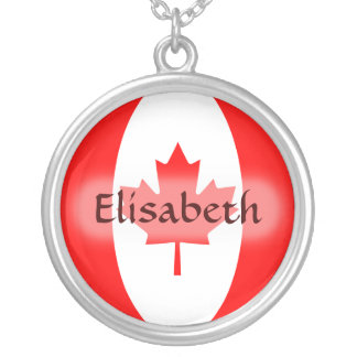 Canada Flag + Name Necklace