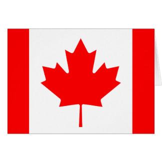 Canada Flag Note Card