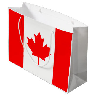 Canada flag quality large gift bag