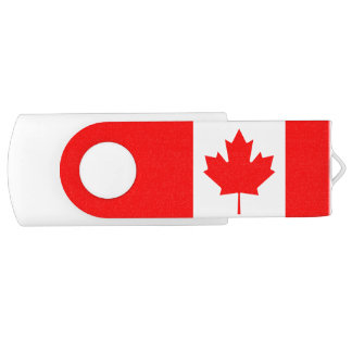 Canada flag quality USB flash drive