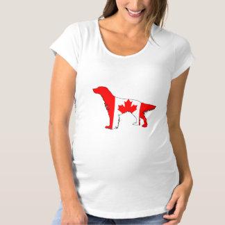 Canada Flag Setter Maternity T-Shirt