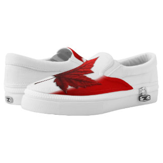 Canada Flag Shoes Canada Slip On Loafer Shoes Printed Shoes
