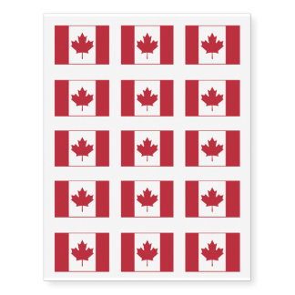 Canada Flag Temporary Tattoos