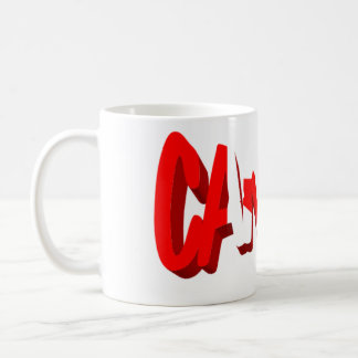 Canada flag text coffee mug