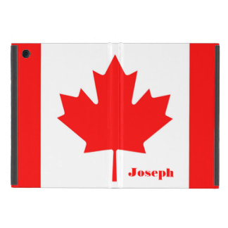 Canada Flag The Canadian Flag Monogram with Name Cover For iPad Mini
