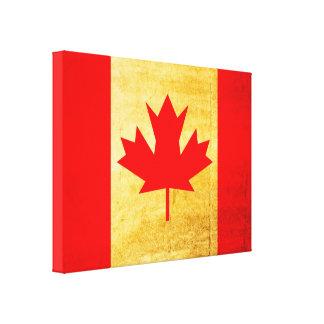 Canada Flag Vintage 2 Canvas Print