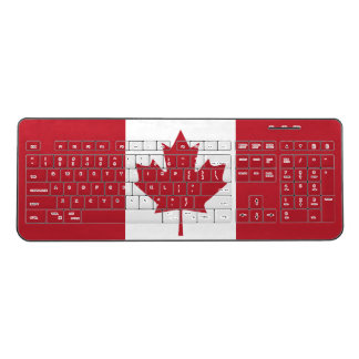 Canada Flag Wireless Keyboard