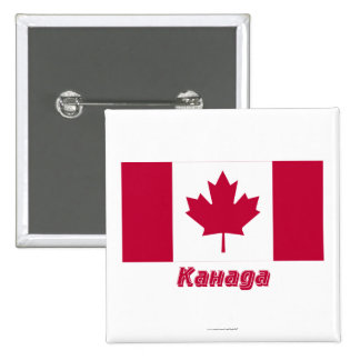 Canada Flag with name in Russian Pinback Button
