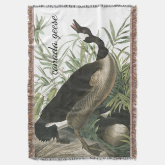 Canada Geese Birds Audubon Wildlife Throw Blanket