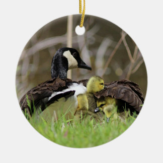 Canada Geese Family Ceramic Ornament