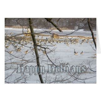 Canada Geese Happy Holidays Card