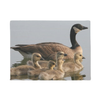 Canada Geese - Mother Goose and Baby Goslings Doormat