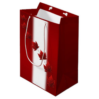 Canada Gift Bags Personalize Maple Leaf Gift Bag