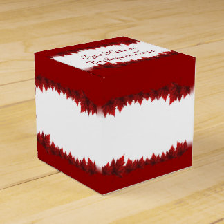 Canada Gift Box Personalize Autumn Leaf Gift Boxes