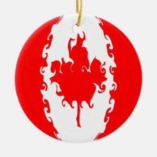 Canada Gnarly Flag Ornaments
