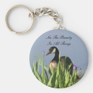 Canada Goose Beauty Inspirational Basic Round Button Key Ring