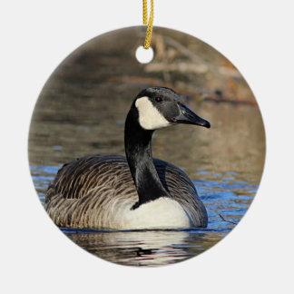 Canada goose ceramic ornament