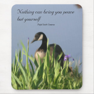Canada Goose Inner Peace Quote Mousepad