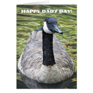 Canada Goose on Lake Dad's Day Card