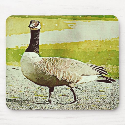 Canada Goose - Watercolor Painted Effect Mousepad
