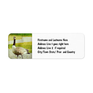 Canada Goose - Watercolor Painted Effect Return Address Label