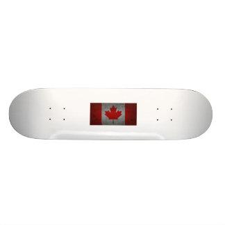 Canada Grunge Flag Canadian Maple Leaf Custom Skateboard