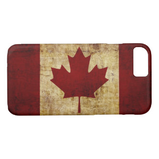Canada/grunged flag iPhone 8/7 case