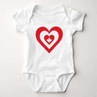 Canada Heart Baby Bodysuit